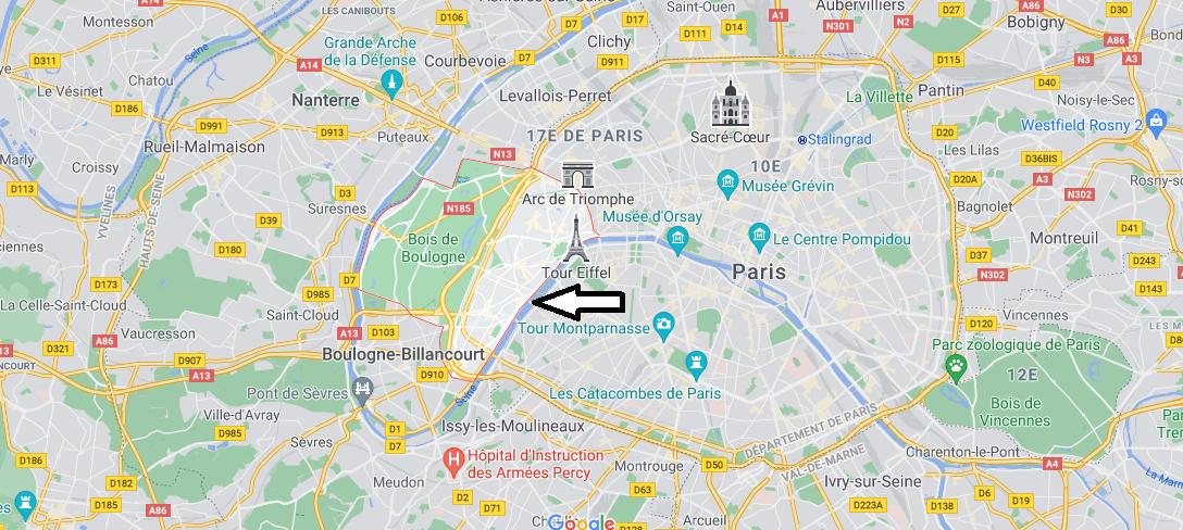 Où se trouve Paris 16e Arrondissement