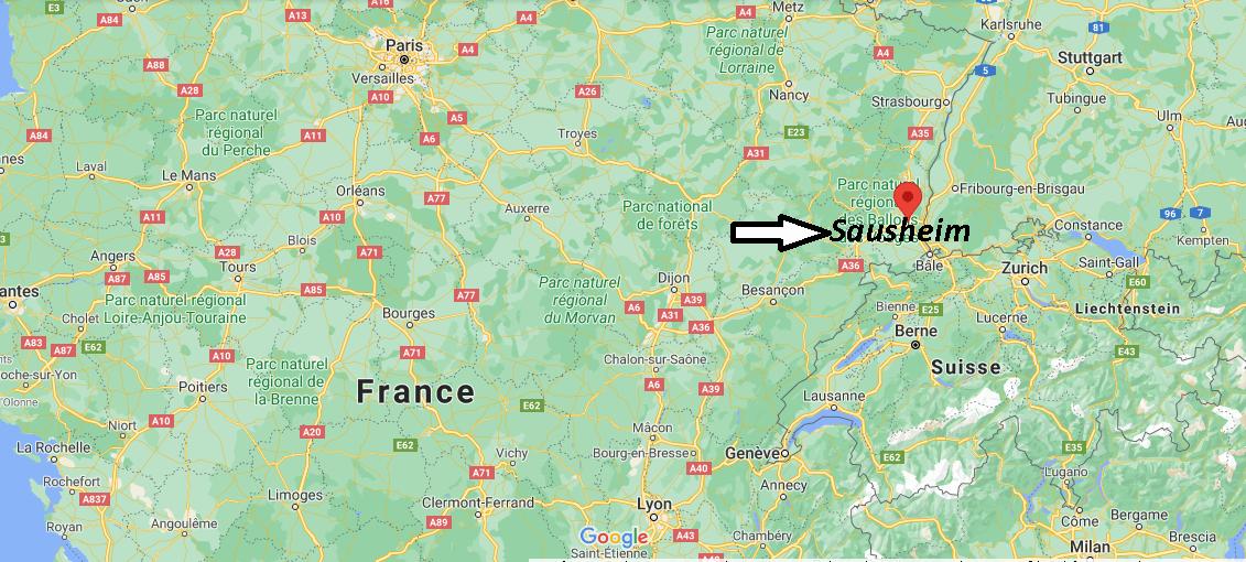 Où se trouve Sausheim