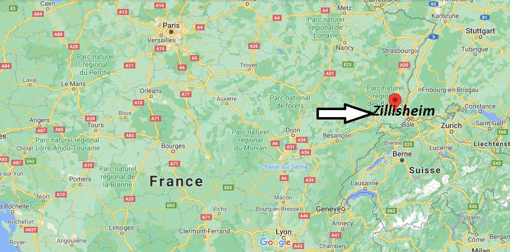 Où se trouve Zillisheim