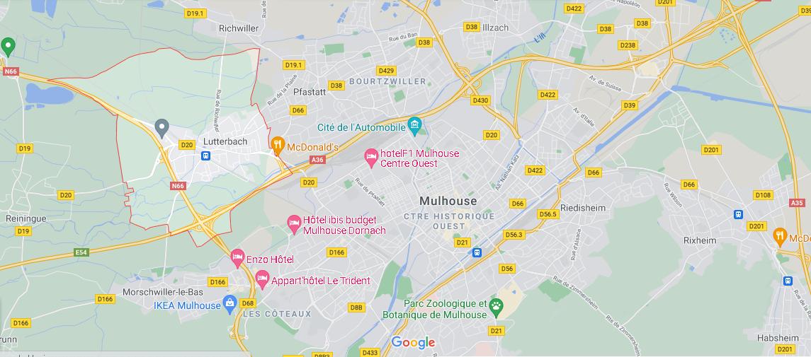 ans quelle région se trouve Lutterbach