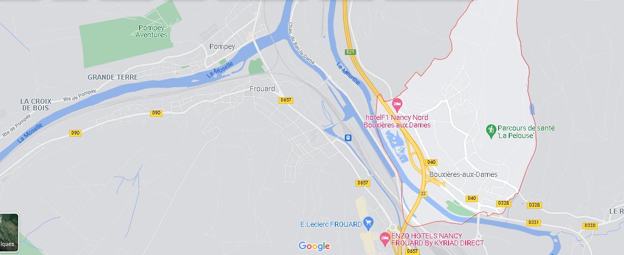 Carte Plan Bouxières-aux-Dames