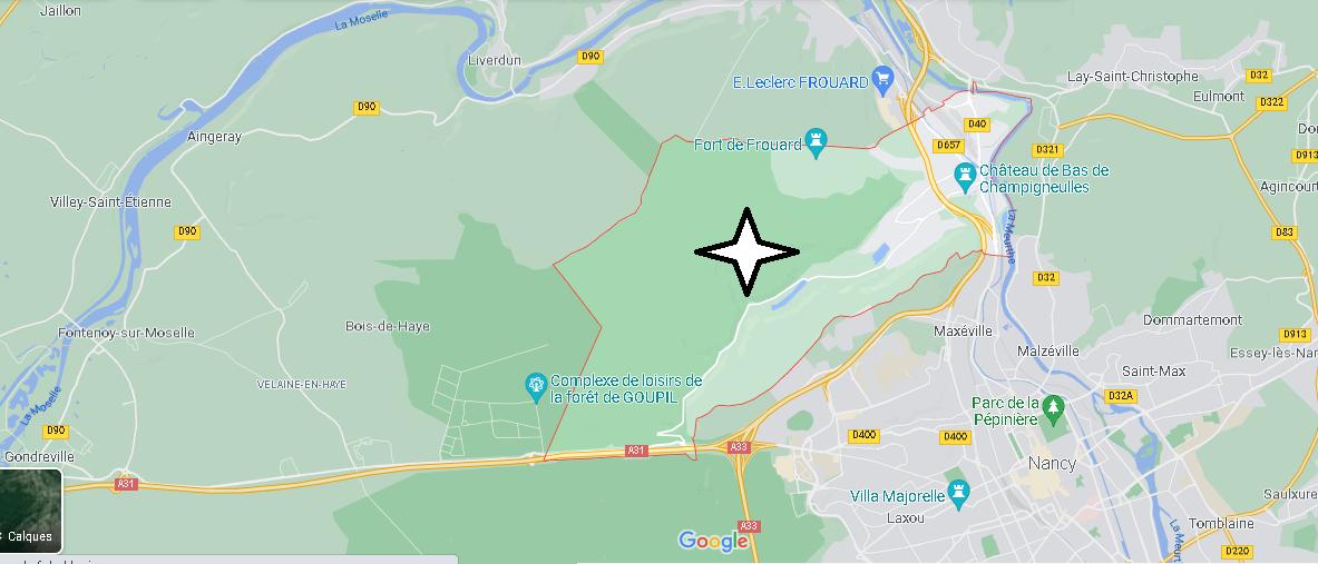 Carte Plan Champigneulles