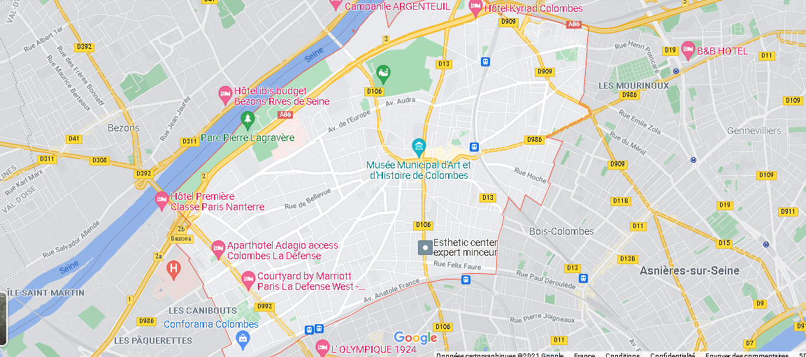 Carte Plan Colombes