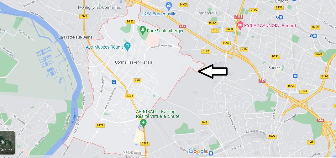 Carte Plan Cormeilles-en-Parisis