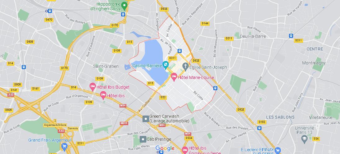 Carte Plan Enghien-les-Bains