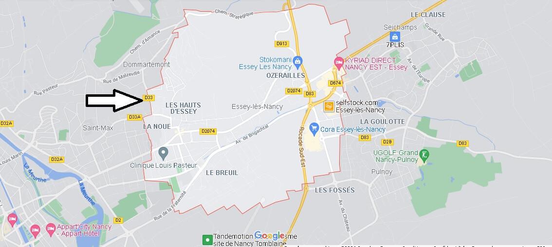 Carte Plan Essey-lès-Nancy