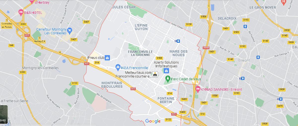 Carte Plan Franconville