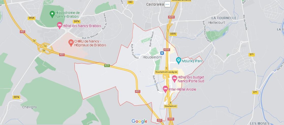Carte Plan Houdemont