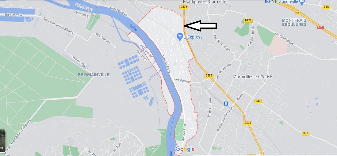 Carte Plan La Frette-sur-Seine