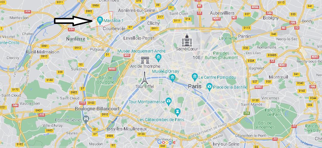 Carte Plan La Garenne-Colombes
