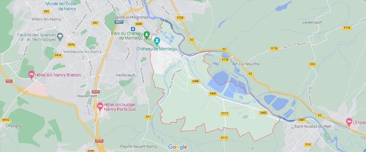 Carte Plan Laneuveville-devant-Nancy