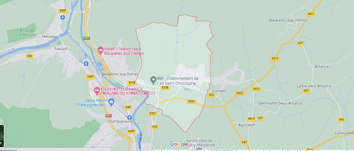 Carte Plan Lay-Saint-Christophe