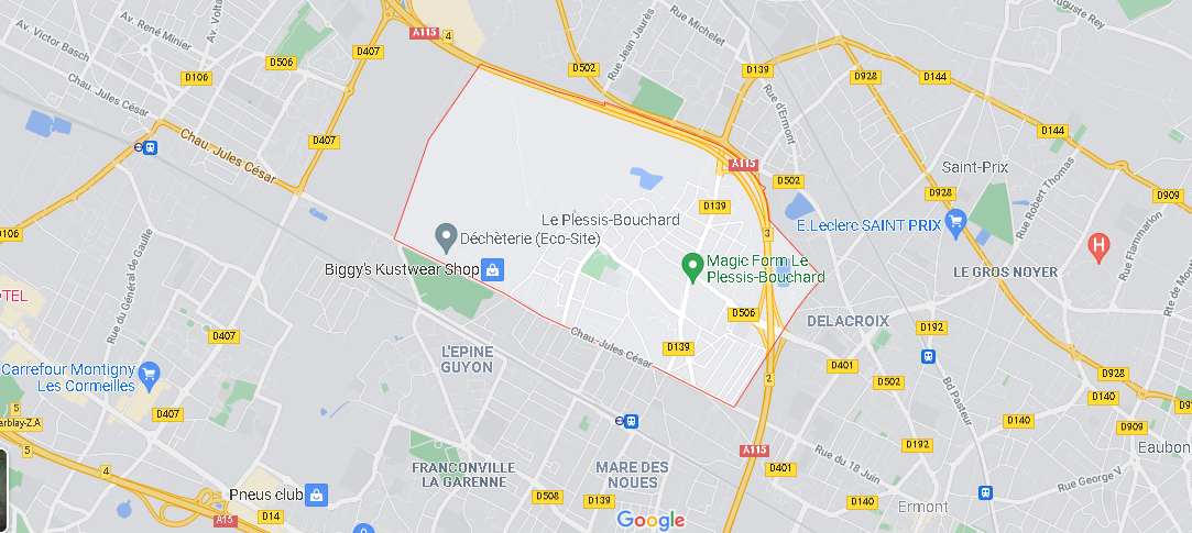 Carte Plan Le Plessis-Bouchard