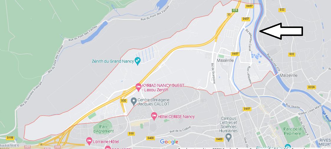 Carte Plan Maxéville