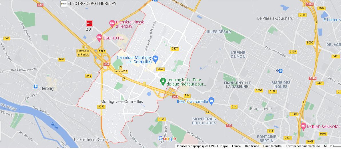 Carte Plan Montigny-lès-Cormeilles