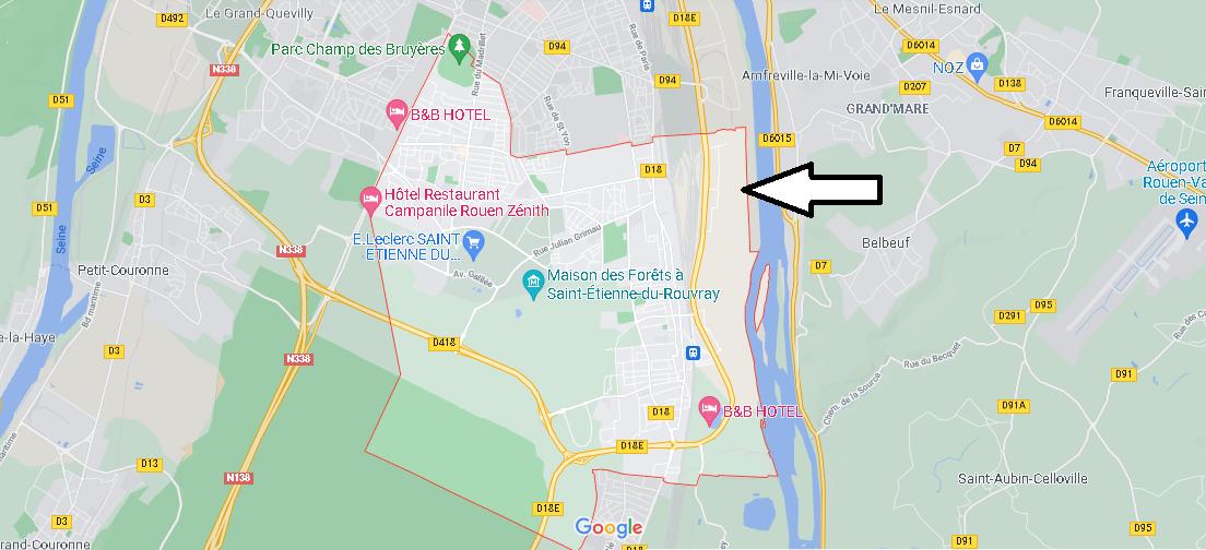 Carte Plan Saint-Étienne-du-Rouvray