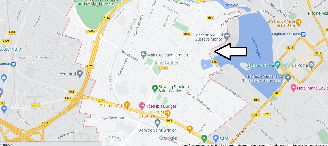 Carte Plan Saint-Gratien