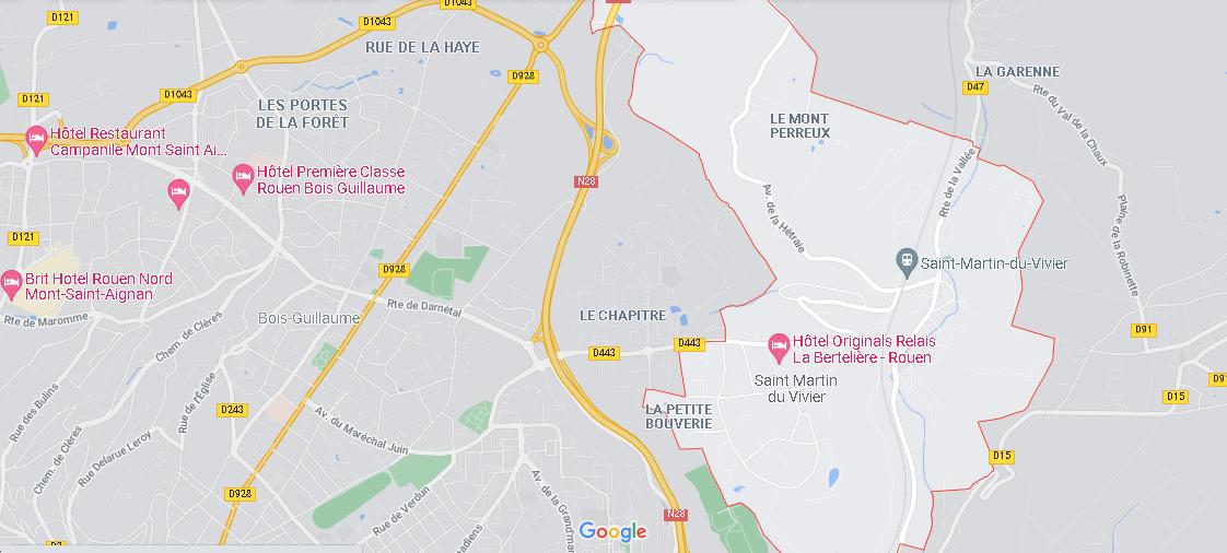Carte Plan Saint-Martin-du-Vivier