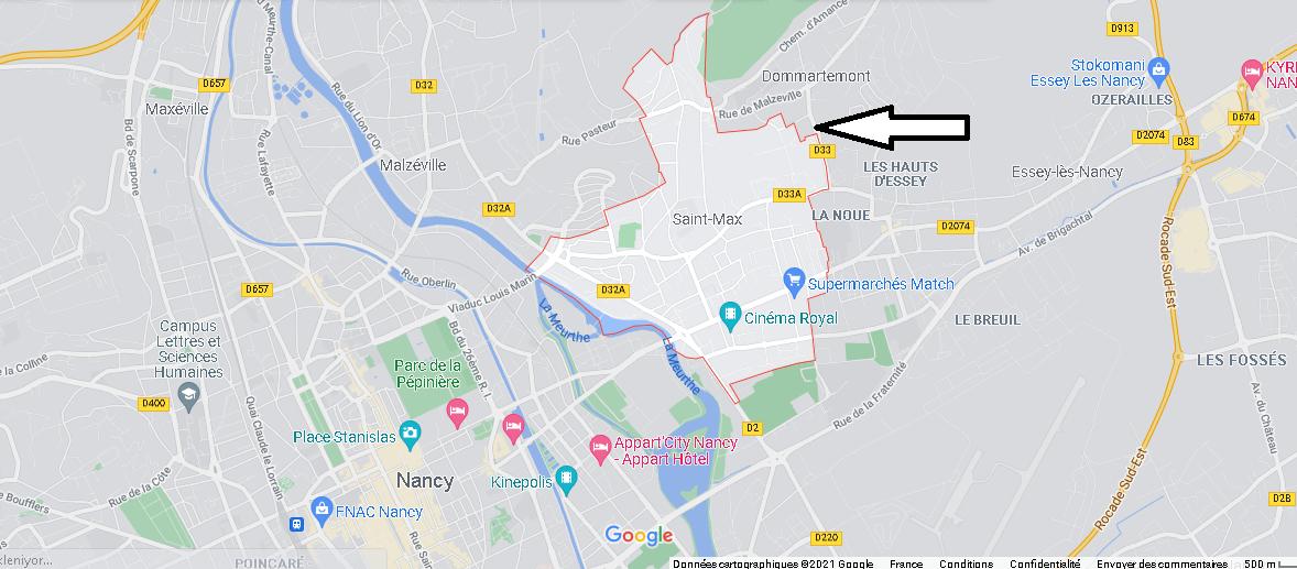Carte Plan Saint-Max