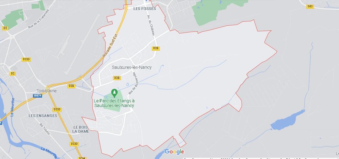 Carte Plan Saulxures-lès-Nancy