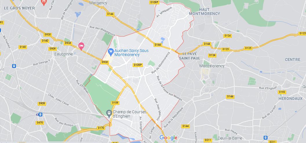 Carte Plan Soisy-sous-Montmorency