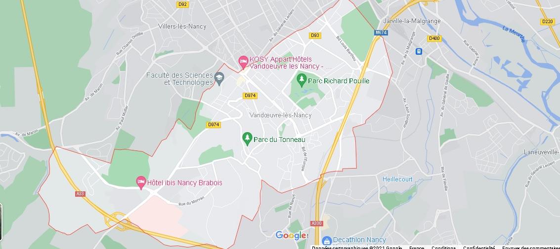 Carte Plan Vandœuvre-lès-Nancy