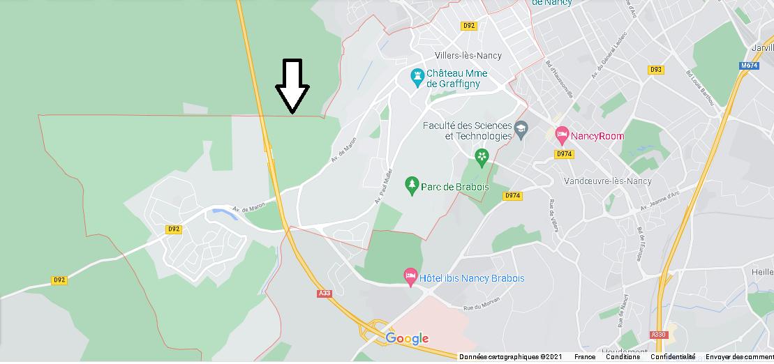 Carte Plan Villers-lès-Nancy