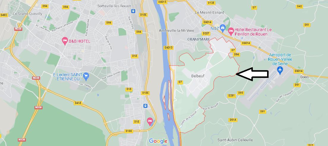 Dans quelle région se trouve Belbeuf