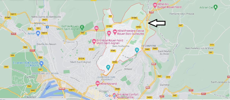 Dans quelle région se trouve Bois-Guillaume