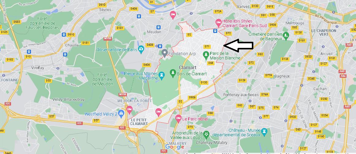 Dans quelle région se trouve Clamart