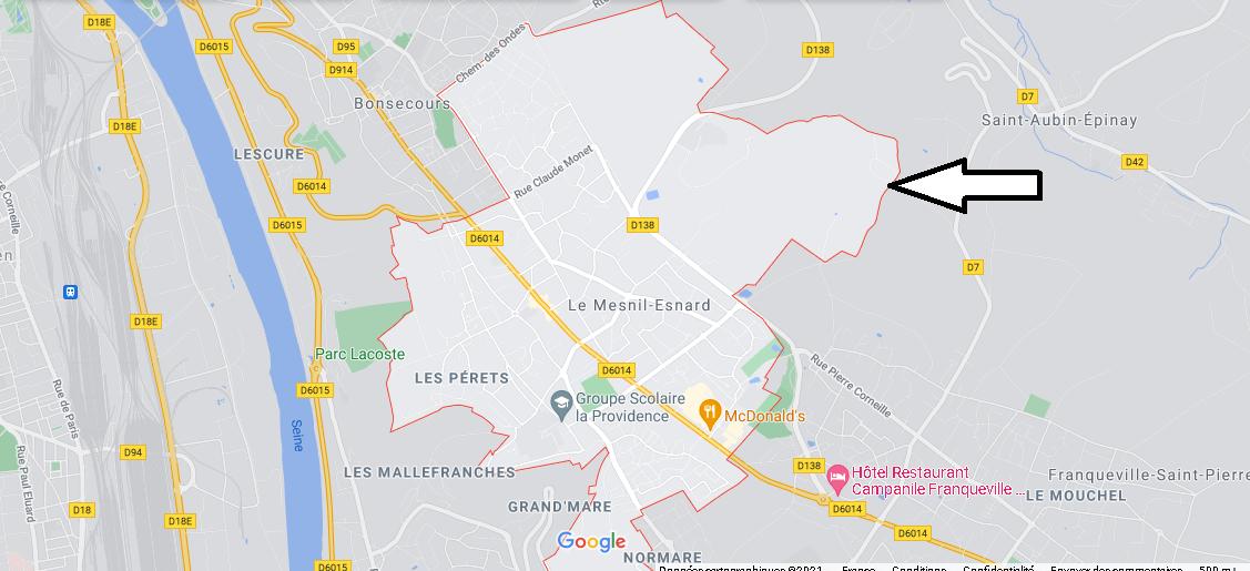 Dans quelle région se trouve Le Mesnil-Esnard