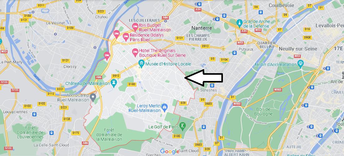 Dans quelle région se trouve Rueil-Malmaison