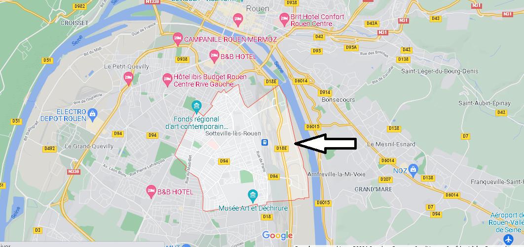 Dans quelle région se trouve Sotteville-lès-Rouen