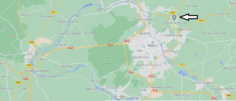 Où se situe Agincourt (Code postal 54770)
