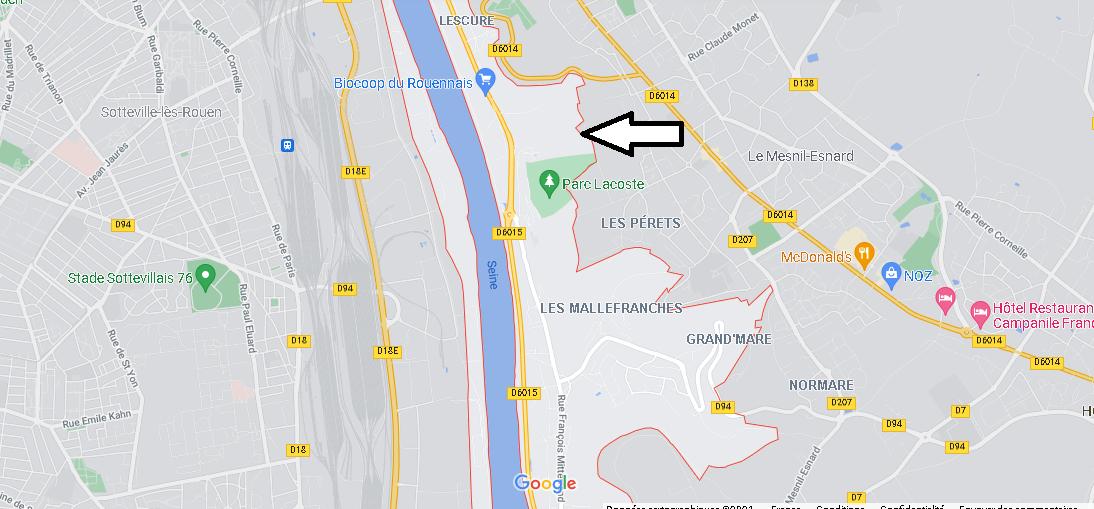 Où se situe Amfreville-la-Mi-Voie (Code postal 76920)