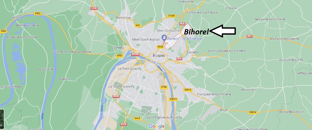 Où se situe Bihorel (Code postal 76420)