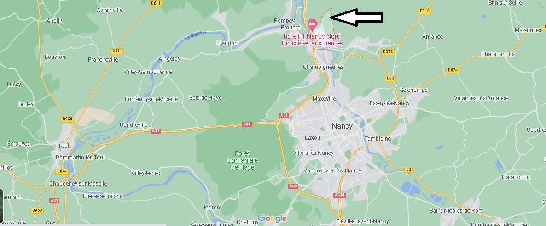 Où se situe Bouxières-aux-Dames (Code postal 54136)