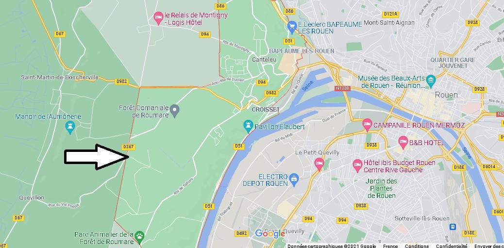 Où se situe Canteleu (Code postal 76380)