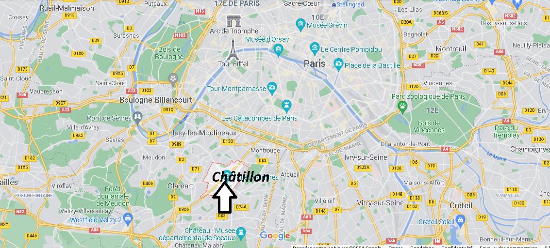 Où se situe Châtillon (Code postal 92320)
