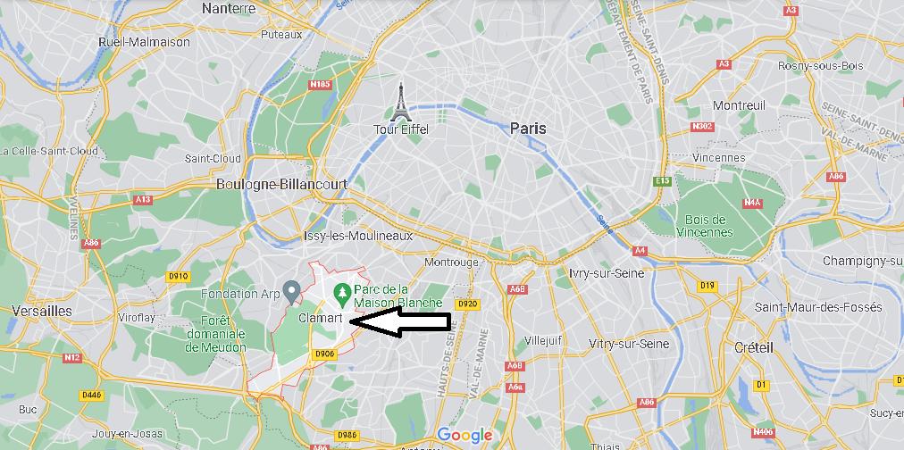 Où se situe Clamart (Code postal 92140)