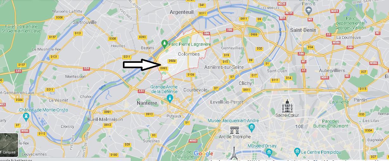 Où se situe Colombes (Code postal 92700)
