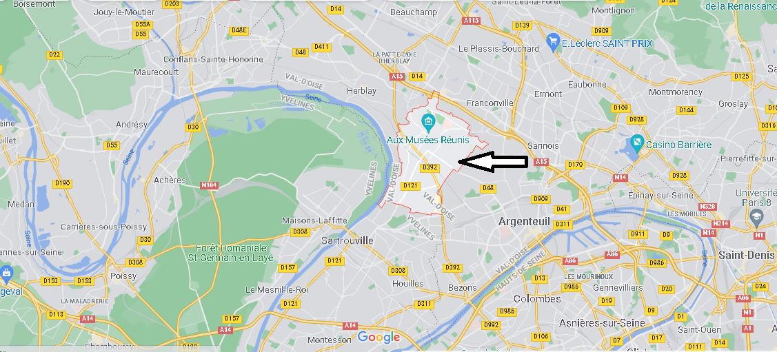 Où se situe Cormeilles-en-Parisis (Code postal 95240)