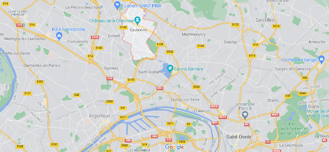 Où se situe Eaubonne (Code postal 95600)