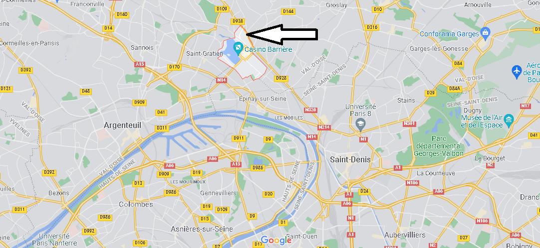 Où se situe Enghien-les-Bains (Code postal 95880)