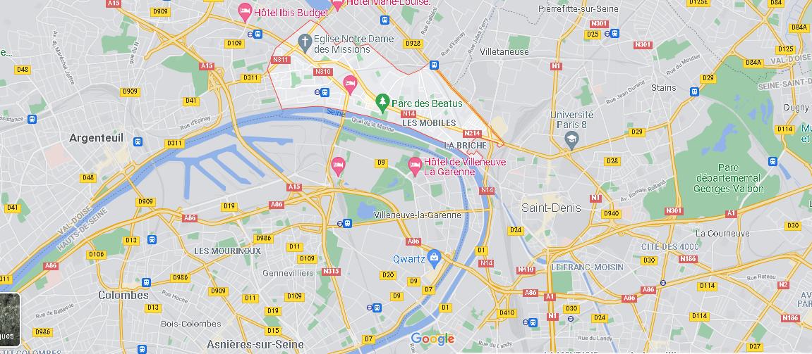 Où se situe Épinay-sur-Seine (Code postal 93800)