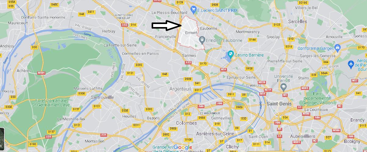 Où se situe Ermont (Code postal 95120)