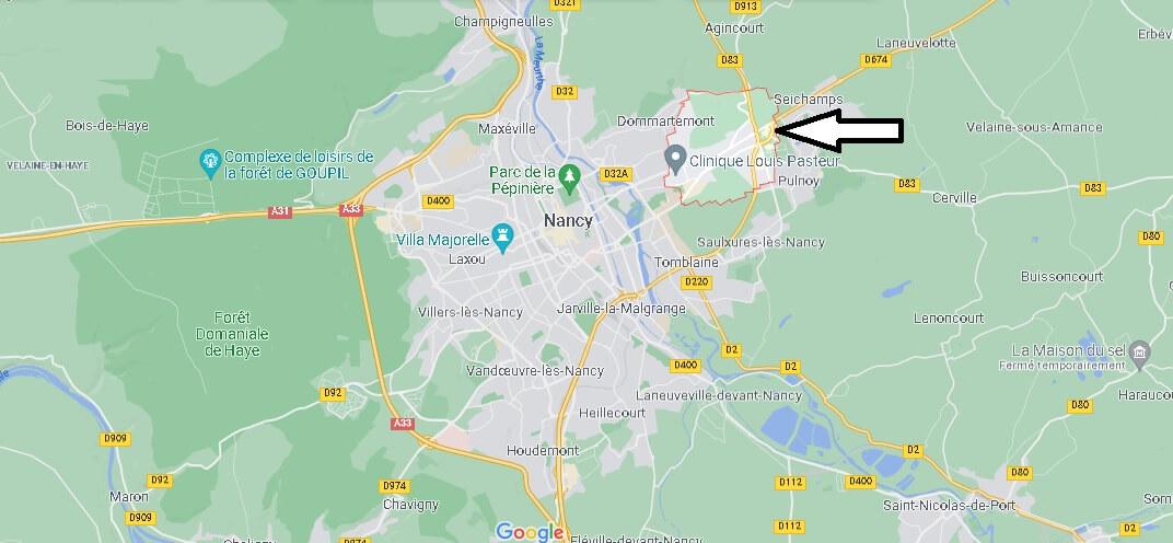 Où se situe Essey-lès-Nancy (Code postal 54270)