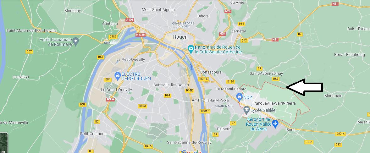 Où se situe Franqueville-Saint-Pierre (Code postal 76520)