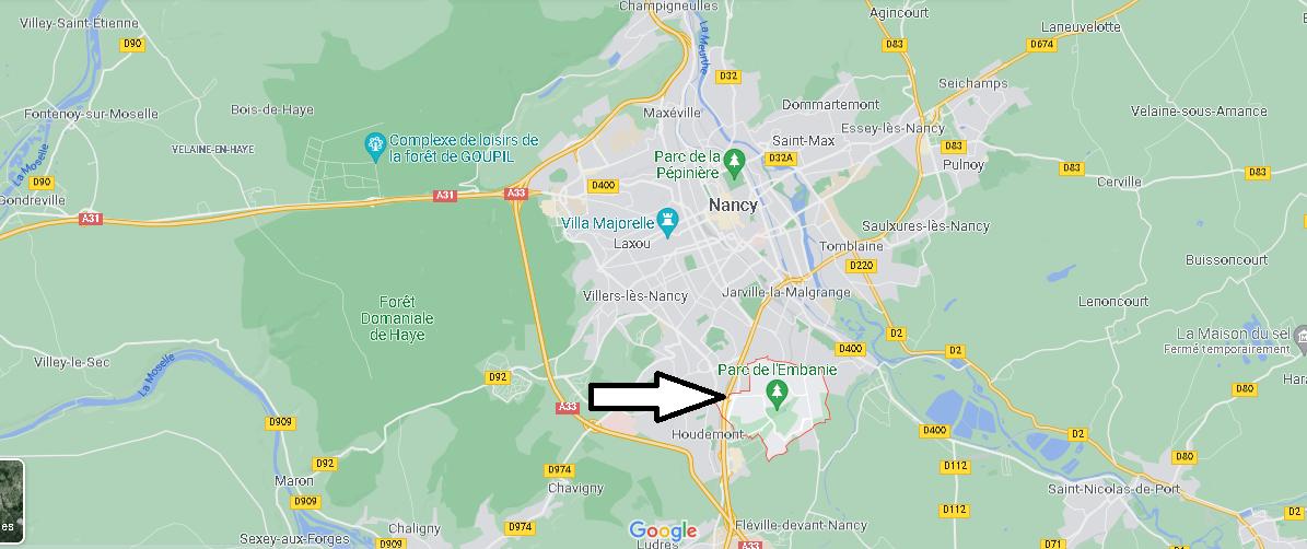 Où se situe Heillecourt (Code postal 54180)