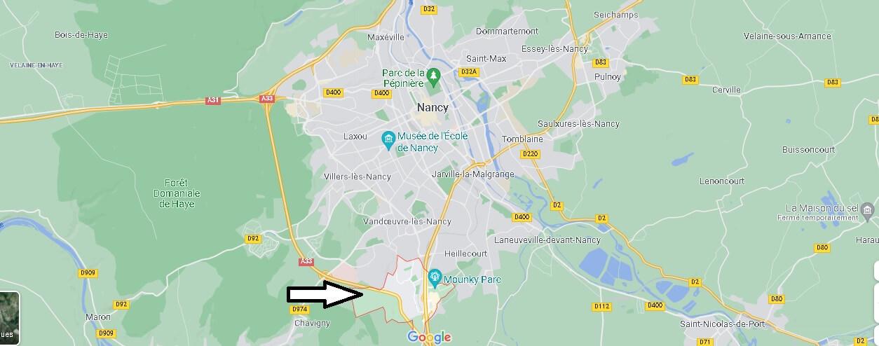 Où se situe Houdemont (Code postal 54180)